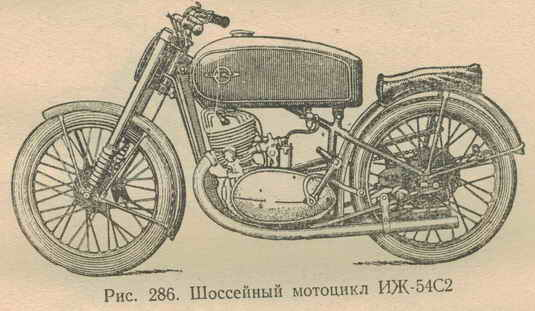 Шоссейный мотоцикл иж 54с2 мотоцикл иж
